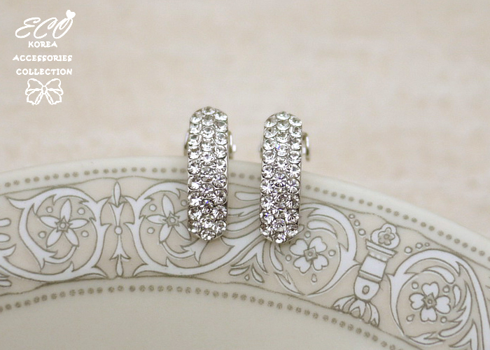 簡約,排鑽,無耳洞耳環,鑽,夾式耳環,鉚釘,韓製,韓國,耳環