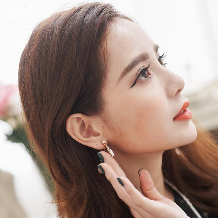 無耳洞耳環,寶石,鑽,鋯石,華麗,復古,夾式耳環,韓製,韓國,耳環