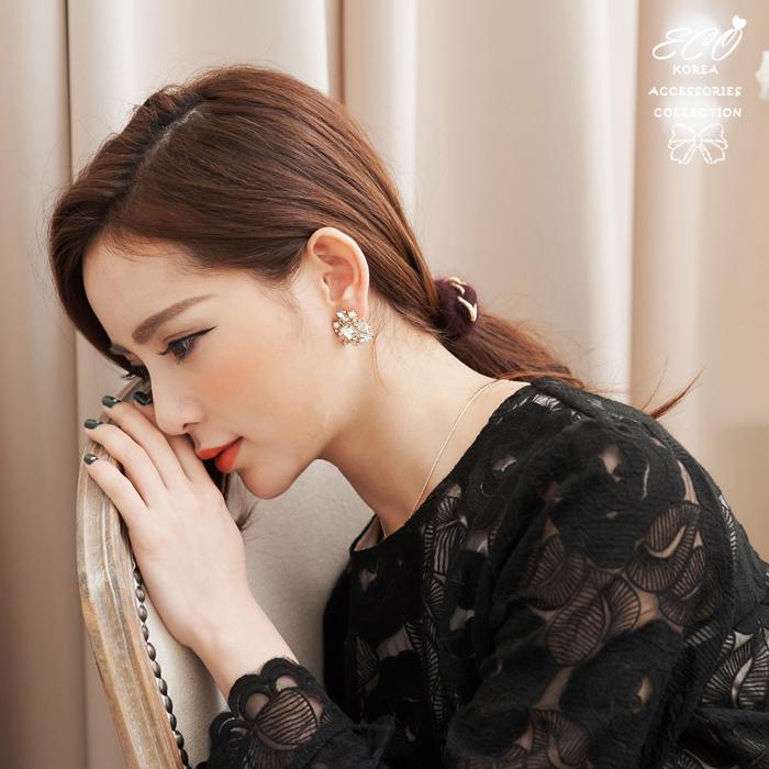 華麗,寶石,鑽,珍珠,無耳洞耳環,耳骨夾,夾式耳環,韓製,韓國,耳環