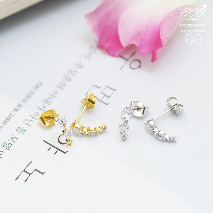 鑽,鋯石,漸層,晶鑽,簡約,百搭,韓製,韓國,耳環