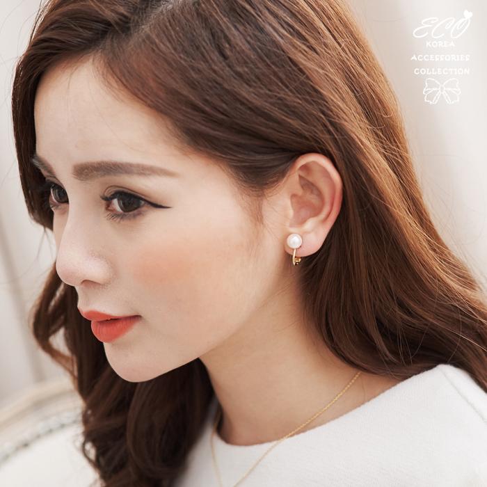 珍珠,簡約,無耳洞耳環,耳骨夾,夾式耳環,個性,韓製,韓國,耳環