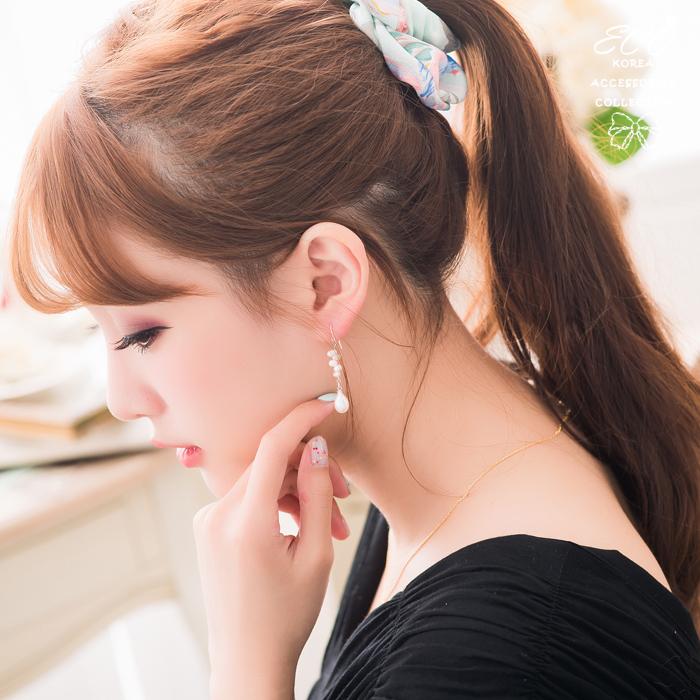 珍珠,天然珍珠,925純銀耳針,夾式耳環,氣質,無耳洞耳環,夾式耳環,韓製,韓國,耳環
