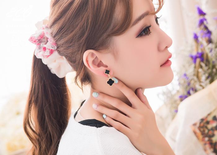 優雅,珠貝光,垂墜,無耳洞耳環,耳骨夾,夾式耳環,韓製,韓國,耳環
