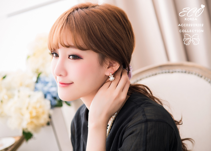 珍珠,無耳洞耳環,夾式耳環,氣質,韓製,韓國,耳環