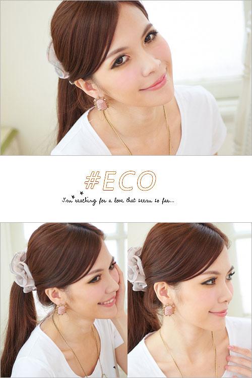 方寶石耳環,古典耳環,華麗耳環,韓國製耳環,韓國飾品,耳環