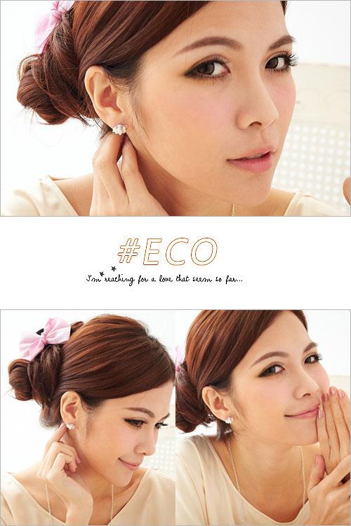 羊耳環,動物耳環,鑲鑽耳環,抓鑽耳環,珍珠耳環,韓國製耳環,韓國飾品,耳環