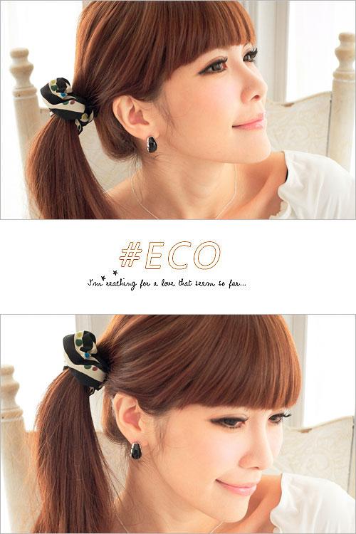 粉晶感寶石,黑寶石耳環,大寶石耳環,韓國飾品,耳環