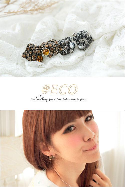 水鑽耳環,耳環,橙鑽,灰鑽,多水鑽耳環,水鑽飾品,鑲鑽飾品,綴鑽飾品,韓國製耳環,韓國飾品,耳環