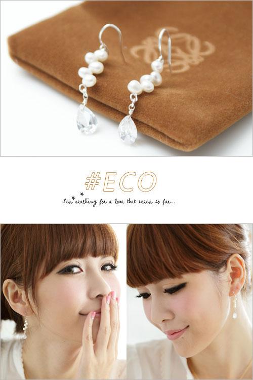 珍珠耳環,水鑽耳環,陲墜耳環,夾式耳環,韓國飾品,耳環