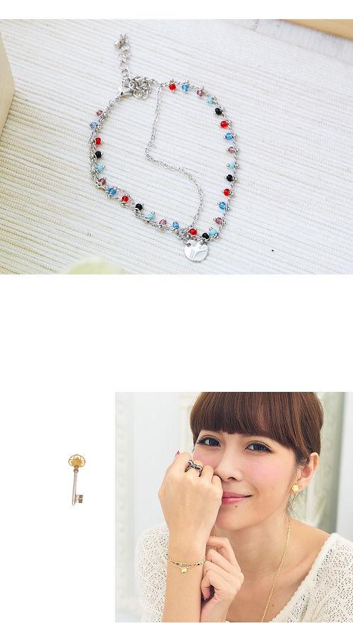 寶石手鍊,雙鍊手鍊,韓國製手鍊,韓國飾品,手環