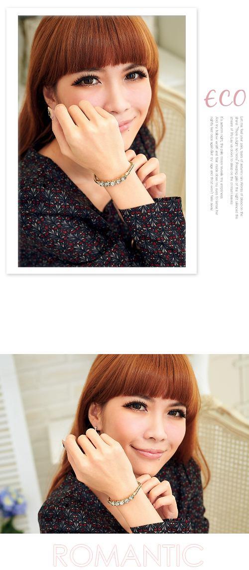 華麗,灰鑽,復古,韓國飾品,手鍊,手環