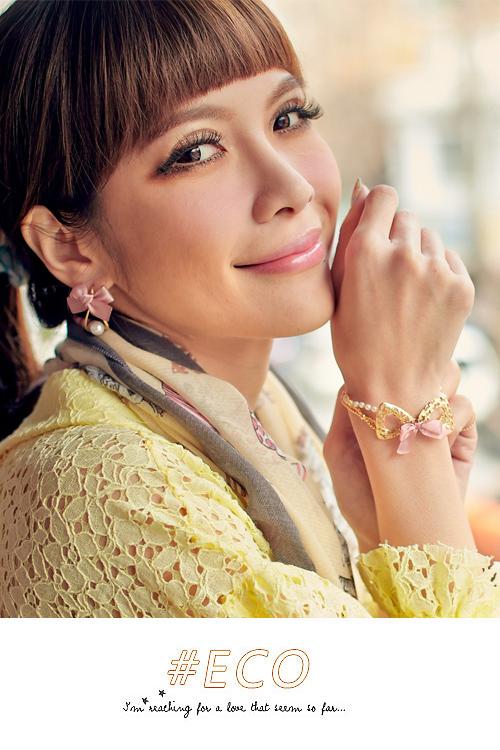 珍珠手鍊,蝴蝶結,韓製,韓國,雙鍊,韓貨,手環