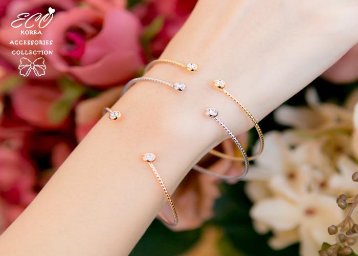 玫瑰金,鑽,三件組,韓國製手環,韓國飾品,手環