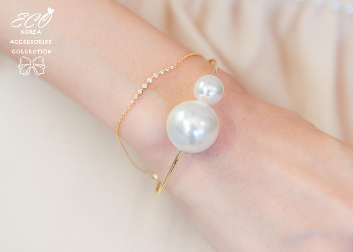 小香款,大珍珠,珍珠手環,韓國製手環,韓國飾品,手環