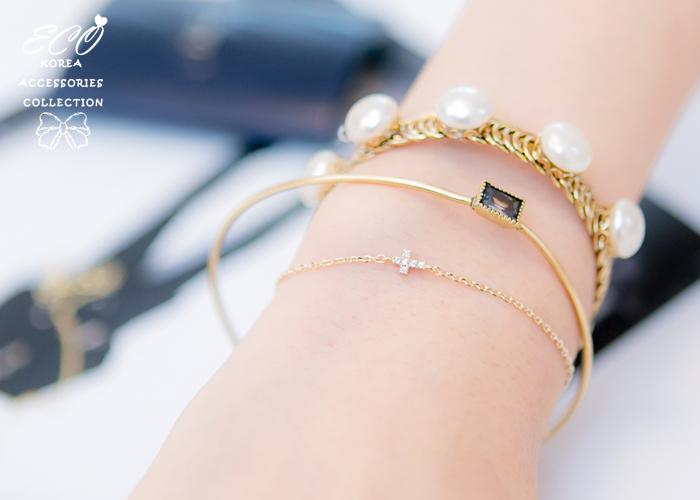 復古,方鑽,韓國製手環,韓國飾品,手環
