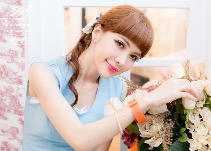 圓柱,碎砂,韓國製手鍊,韓國飾品,手環
