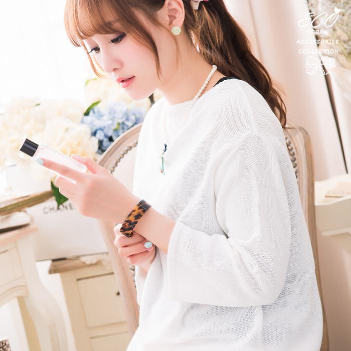 玳瑁,琥珀色,韓國製手鍊,韓國飾品,手環