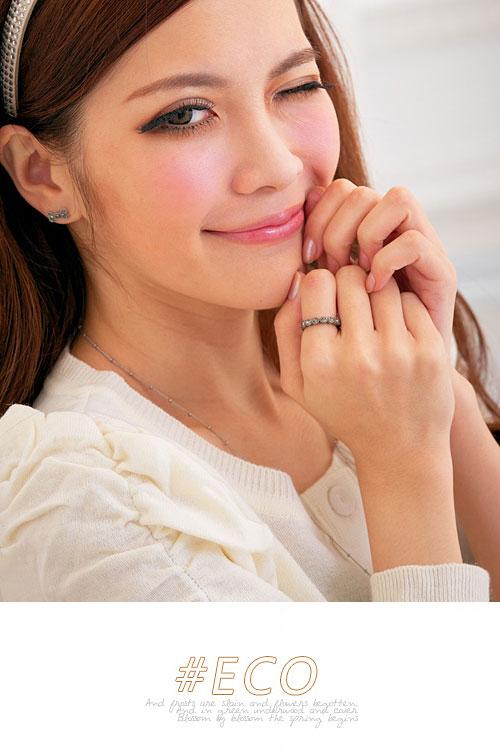 綴鑽戒指,水鑽戒指,鐵黑色戒指,韓國製戒指,韓國飾品,戒指
