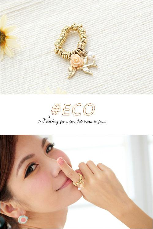 玫瑰戒指,軟戒,小鳥戒指,珍珠戒指,韓國製戒指,韓國飾品,戒指