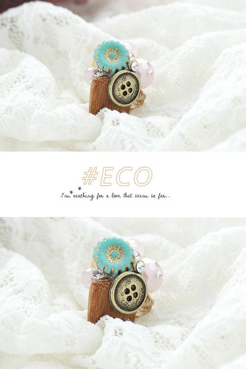 小花戒指,綴鑽戒指,寶石戒指,木質戒指,韓國製戒指,韓國飾品,戒指
