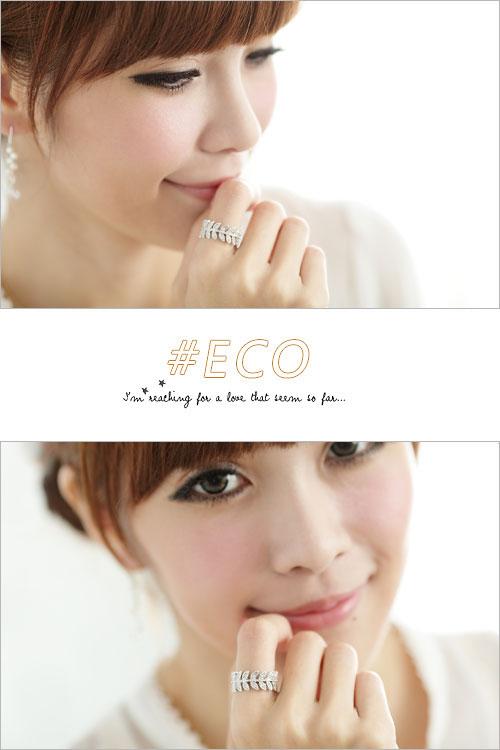 水鑽戒指,葉子戒指,韓國製戒指,韓國飾品,戒指