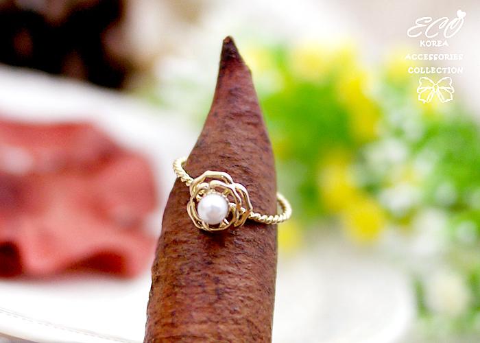 玫瑰,珍珠,韓製,韓國,韓貨,戒指