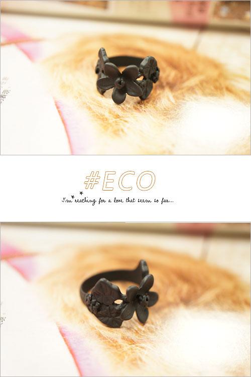 花朵設計,黑色戒指,戒指,韓國髮飾,韓國髮圈,韓國飾品