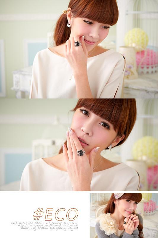 珠鍊戒指,多環戒指,寶石戒指,韓國製戒指,韓國飾品,戒指