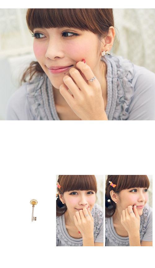 綴鑽戒指,韓國製戒指,韓國飾品,戒指