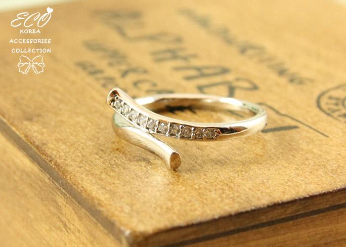 交叉,綴鑽,簡約,韓製,韓國,韓貨,戒指