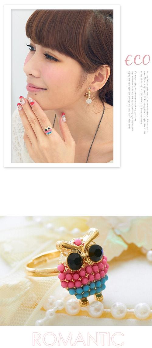 貓頭鷹,立體,韓國,韓製,韓貨,韓飾,戒指