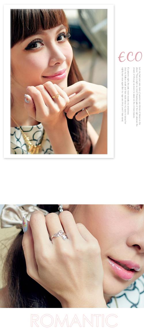 蝴蝶結,愛心,可愛款,韓製,韓國,韓貨,戒指