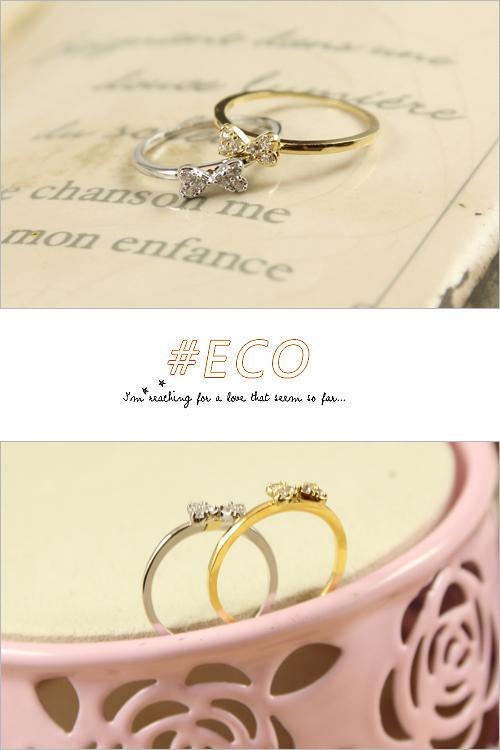 蝴蝶結,綴鑽,甜美款,韓製,韓國,韓貨,戒指