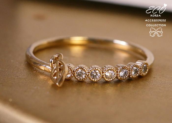 葉子,水鑽排,垂墜,韓製,韓國,韓貨,戒指