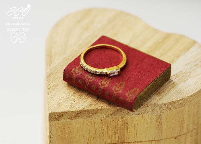 方鑽,單鑽,排鑽,韓製,韓國,韓貨,戒指