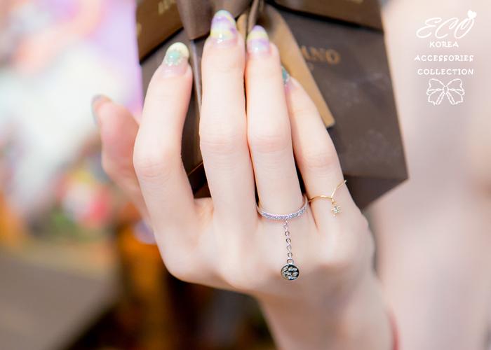 圓牌,碎鑽,鑽,韓製,韓國,韓貨,戒指
