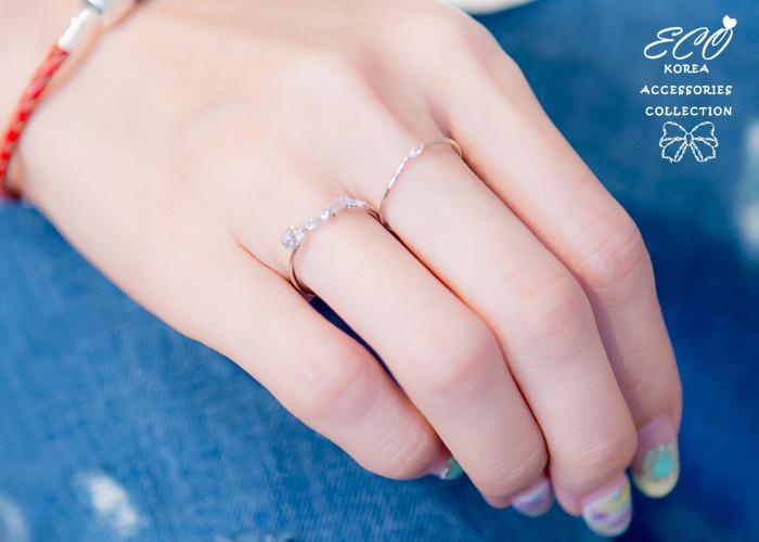 波型,水鑽,尾戒,韓製,韓國,韓貨,戒指