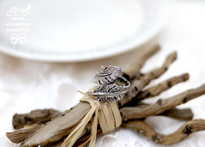 羽毛,復古,個性款,韓製,韓國,韓貨,戒指