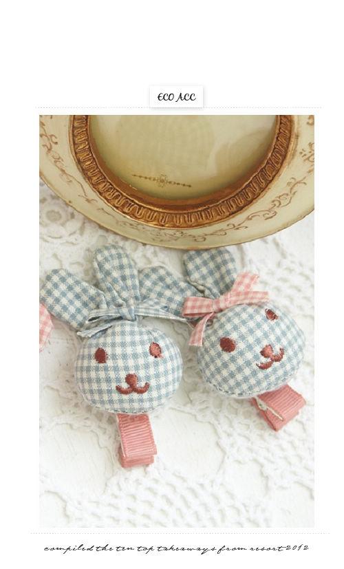 蝴蝶結,髮夾,小兔子,兒童,小孩,韓國,髮飾,飾品