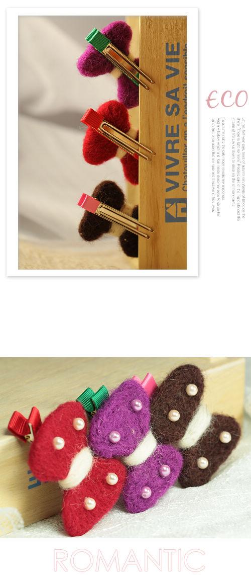 珍珠,毛氈,蝴蝶結,髮束,韓國髮飾,韓國髮圈,韓國飾品