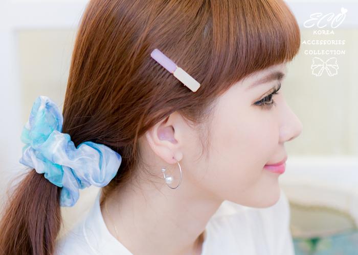 雲朵,藍天,夕陽,髮束,大腸圈,韓國髮飾,韓國髮圈,韓國飾品,髮圈