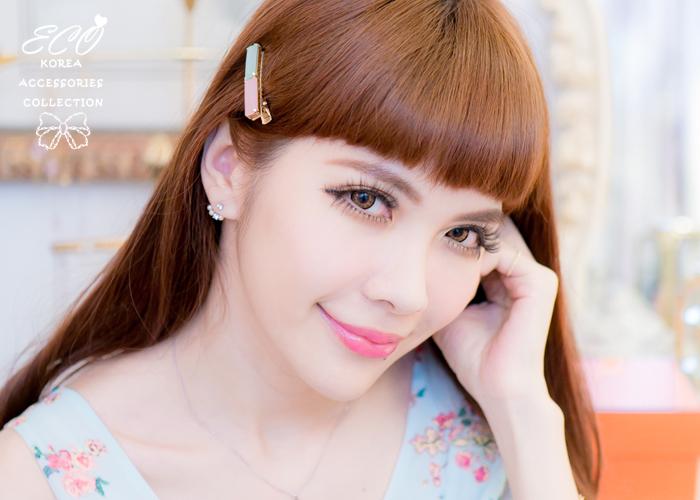 方塊,馬卡龍,甜美,Y字夾,髮夾,韓國髮飾,韓國髮圈,韓國飾品