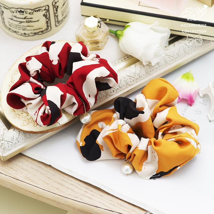 色塊,圖畫,珍珠,氣質,成熟,高雅,大腸圈,髮束,韓國髮飾,韓國髮圈,韓國飾品,髮圈