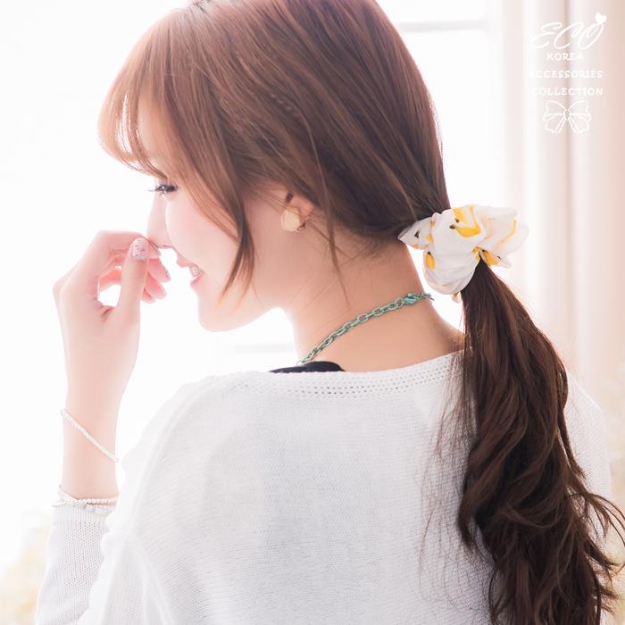 香蕉,印章,大腸圈,髮束,韓國髮飾,韓國髮圈,韓國飾品,髮圈