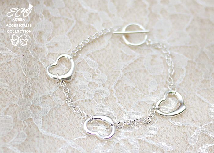 愛心,925純銀,純銀手鍊,925純銀手鍊,純銀飾品,手鍊