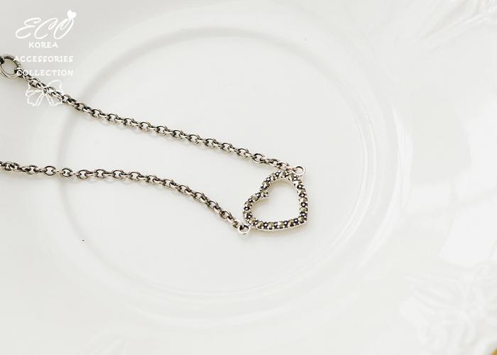 925純銀手鍊,愛心,復古,黑鑽,水鑽,925純銀,純銀手鍊,純銀飾品,手鍊