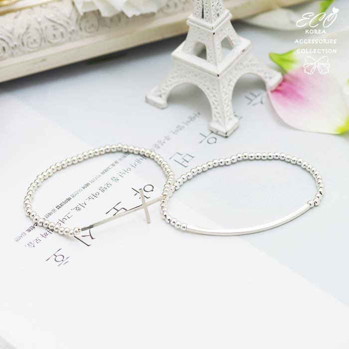 銀珠,小串珠,簡約,直線,線條,925純銀,純銀手鍊,925純銀手鍊,純銀飾品,手鍊