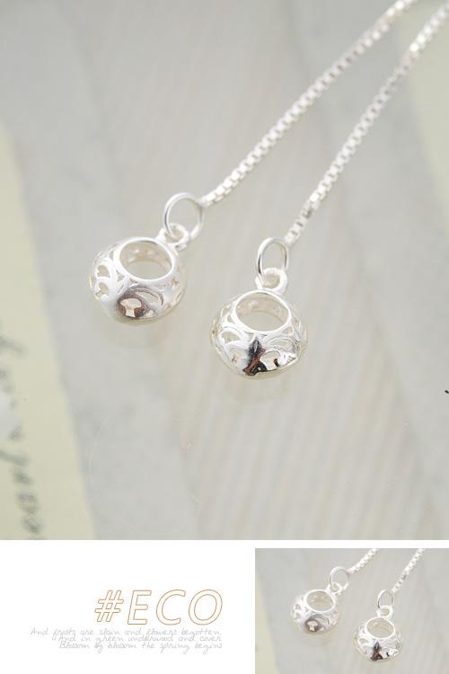 圈圈耳環,垂墜耳環,鏤空花樣耳環,純銀針耳環,925純銀耳環,抗過敏耳環