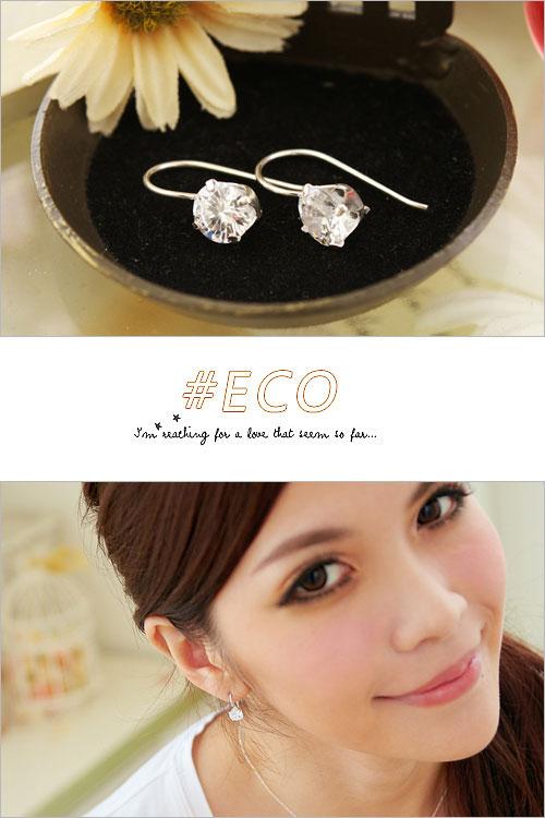 鋯石耳環,水鑽耳環,純銀針耳環,925純銀耳環,抗過敏耳環