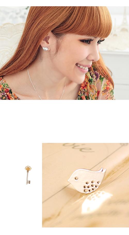 動物耳環,小鳥,純銀,耳環,純銀針耳環,925純銀耳環,抗過敏耳環